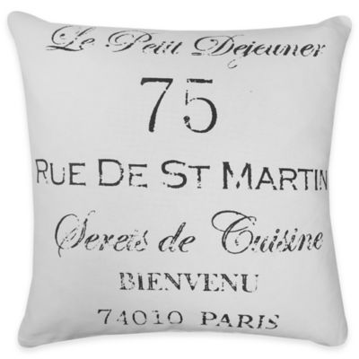 "The Vintage House by Park B. Smith ""Le Petit Dejeuner"" Square Throw Pillow"