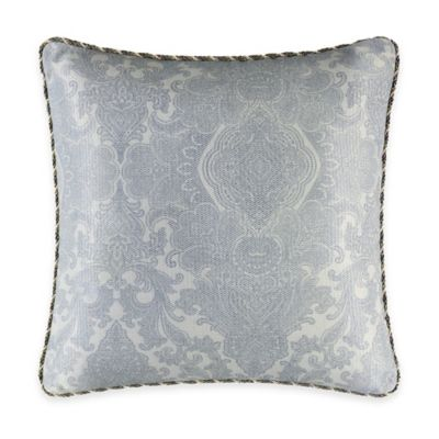 J. Queen New York™ Hemmingway Damask Square Throw Pillow in Blue