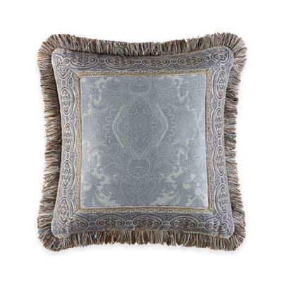 J. Queen New York™ Hemmingway Mitered Square Throw Pillow in Blue