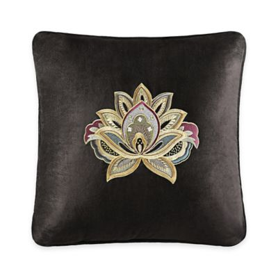J. Queen New York™ Coventry Embroidered Square Throw Pillow in Brown