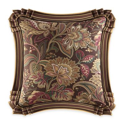 J. Queen New York™ Coventry Floral Square Throw Pillow in Brown