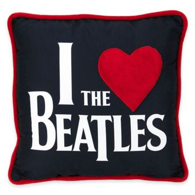 "The Beatles ""I Love The Beatles"" Throw Pillow"