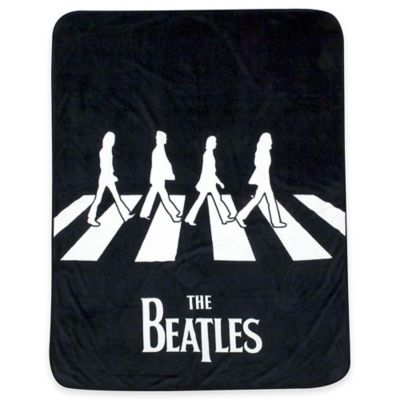 "The Beatles ""Abbey Road"" Microfiber Throw in Black/White"