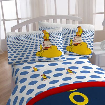 "Beatles ""Yellow Submarine"" Twin Sheet Set"