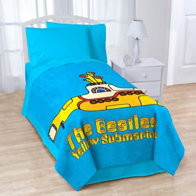 "Beatles ""Yellow Submarine"" Coral Fleece Throw Blanket"