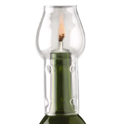 Oenophilia Afterglow Glass Globe Wine Bottle Flame Protector Set
