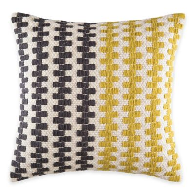 KAS Australia Latitude Caden Throw Pillow in Yellow/Grey