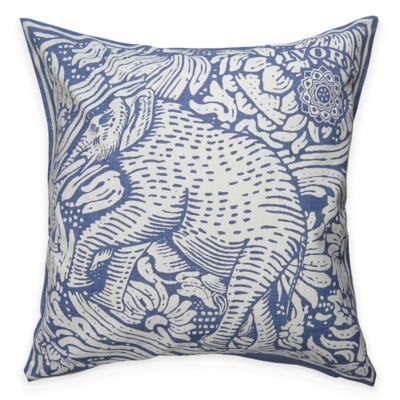 The Vintage House by Park B. Smith Bombay Square Throw Pillow in Denim