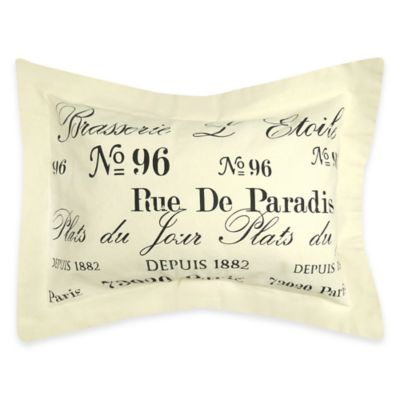 The Vintage House by Park B. Smith® Brasserie Oblong Throw Pillow in Natural/Black
