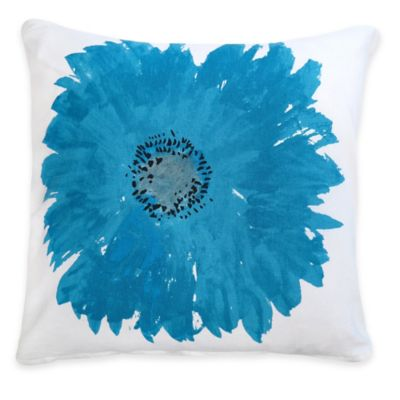 The Vintage House by Park B. Smith Gerber Square Throw Pillow in Turquoise