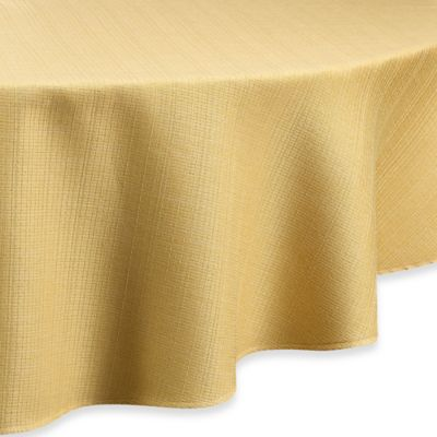 Noritake® Colorwave 70-Inch Round Tablecloth in Mustard
