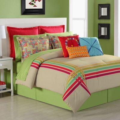 Fiesta® Salaya Reversible Twin Comforter Set