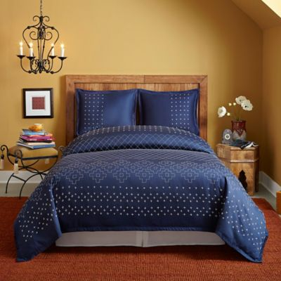 SPUN™ by Welspun Rustic Indigo Full/Queen Duvet Cover Set in Indigo