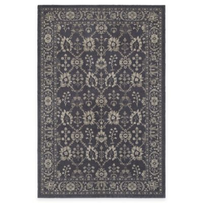Oriental Weavers Richmond Blossom 5-Foot 3-Inch x 7-Foot 6-Inch Area Rug in Navy