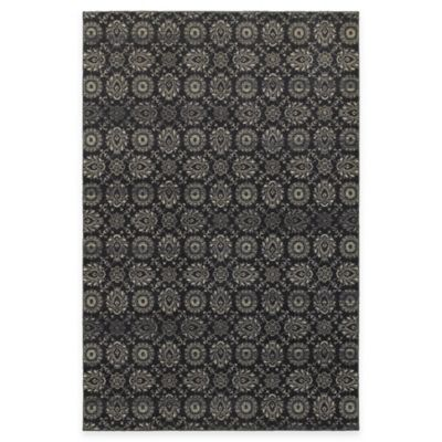 Oriental Weavers Richmond Floral Damask 5-Foot 3-Inch x 7-Foot 6-Inch Area Rug in Beige