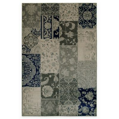 Oriental Weavers Richmond Patchwork 3-Foot 10-Inch x 5-Foot 5-Inch Area Rug in Ivory