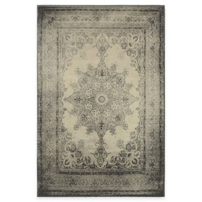Oriental Weavers Richmond Distressed Medallion 5-Foot 3-Inch x 7-Foot 6-Inch Area Rug in Ivory