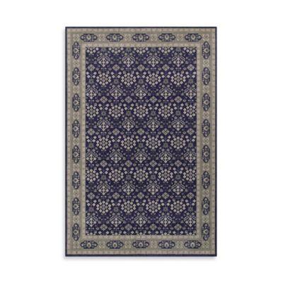 Oriental Weavers Richmond Vines 3-Foot 10-Inch x 5-Foot 5-Inch Area Rug in Navy