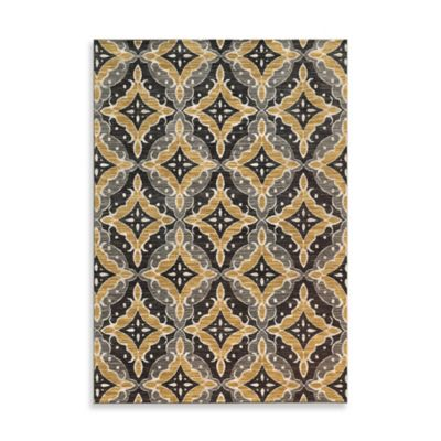 Oriental Weavers Harper Diamond 9-Foot 10-Inch x 12-Foot 10-Inch Area Rug in Charcoal