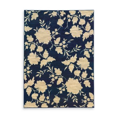 Oriental Weavers Harper Floral 3-Foot 3-Inch x 5-Foot 5-Inch Area Rug in Blue