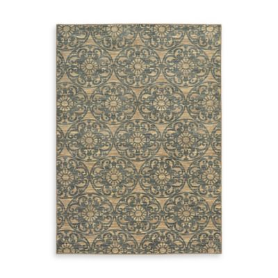 Oriental Weavers Harper Medallion Damask 7-Foot 10-Inch x 10-Foot 10-Inch Area Rug in Beige