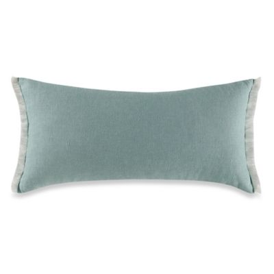 Kenneth Cole Escape Raw Edge Oblong Throw Pillow in Sea Green