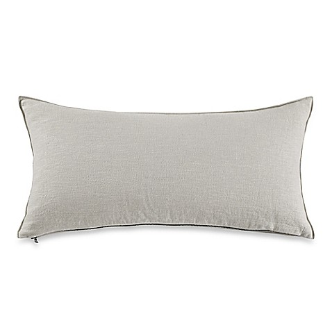 Kenneth Cole New York Escape Exposed Zipper Oblong Throw Pillow in Grey - www.BedBathandBeyond.com