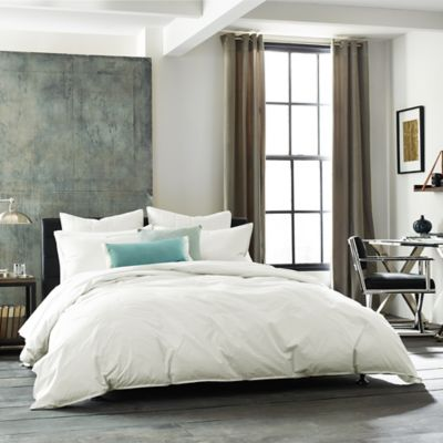 Kenneth Cole New York Escape Twin Duvet Cover in White