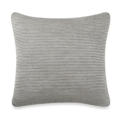 Kenneth Cole Escape Stripe Square Throw Pillow in Grey