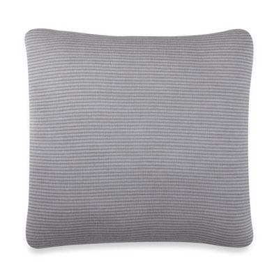 Kenneth Cole New York Escape Stripe Square Throw Pillow in Lilac