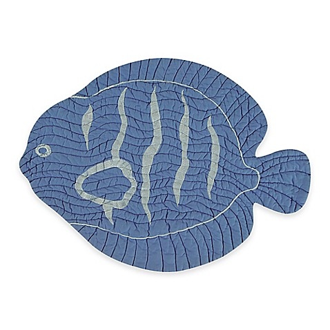 Buy quilted fish placemat in blue from bed bath beyond for Closest fish store