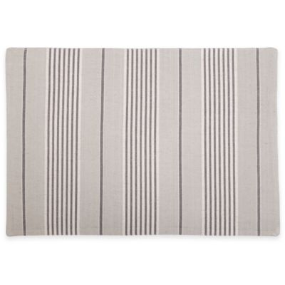 Shelbourne Reversible Placemat in Charcoal