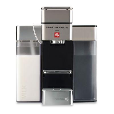 illy® Francis Francis Y5 Milk iper Espresso Machine in Satin