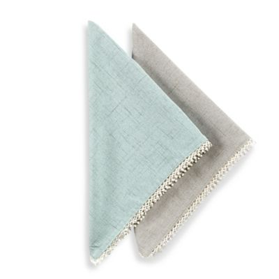 Lenox® French Perle Solid Napkins in Dove Grey (Set of 2)