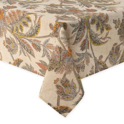 Echo Ishana 70-Inch Square Tablecloth in Turmeric
