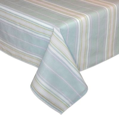 Lenox® French Perle 60-Inch x 84-Inch Oblong Tablecloth in Ice Blue