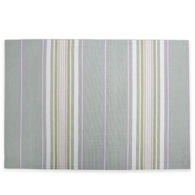 Lenox® French Perle Stripe Placemat in Ice Blue
