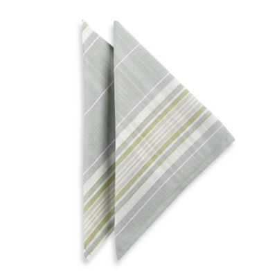 Lenox® French Perle Stripe Napkins in Ice Blue (Set of 2)