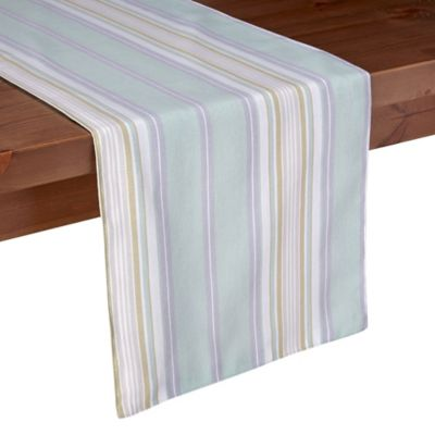 Lenox® French Perle Stripe 70-Inch Table Runner in Ice Blue