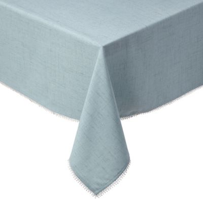 Lenox® French Perle Solid 60-Inch x 84-Inch Oblong Tablecloth in Ice Blue