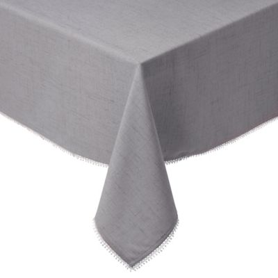 Lenox® French Perle Solid 60-Inch x 84-Inch Oblong Tablecloth in Dove Grey