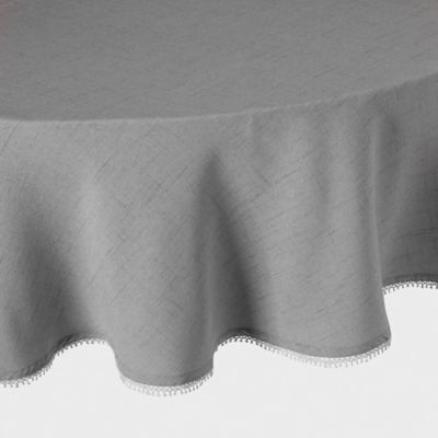 Lenox® French Perle Solid 70-Inch Round Tablecloth in Dove Grey