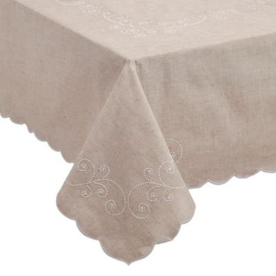 Lenox® French Perle 60-Inch x 84-Inch Oblong Tablecloth in Linen