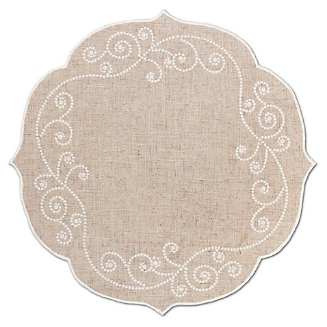 Lenox 174 French Perle Round Placemat In Linen Bed Bath Amp Beyond