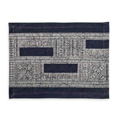 Block Placemat in Blue