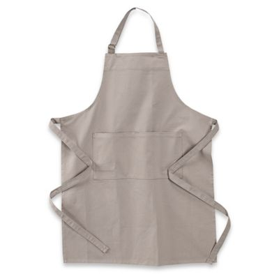 Solid Cotton Apron in Light Grey