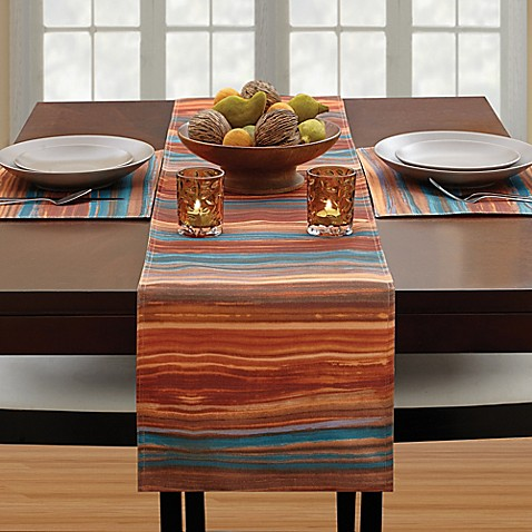 Croscill 174 Ventura 54 Inch Table Runner In Spice Bed Bath