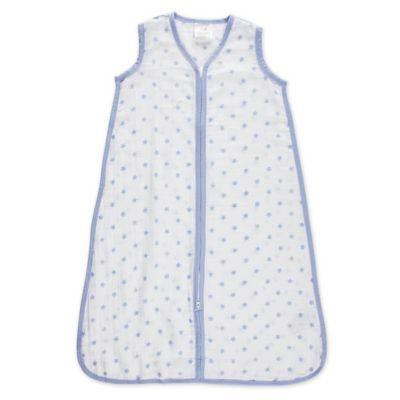 aden® by aden + anais® Medium Dashing Muslin Wearable Blanket in White/Blue