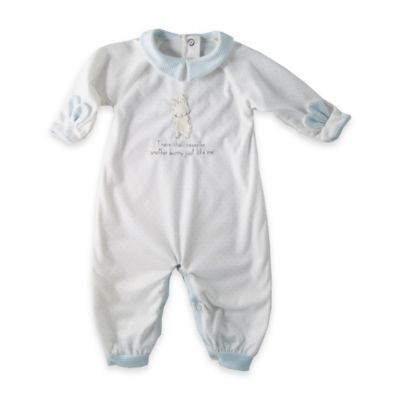 Bunnies by the Bay® Size 6-9M Bunny Playsuit in White/Blue