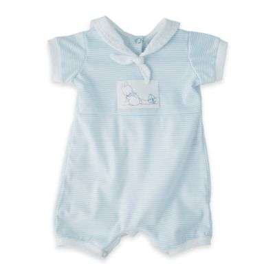 Bunnies by the Bay® Size 6-9M Baby's First Romper in Blue